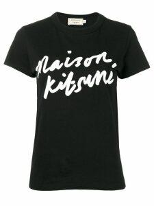 Maison Kitsuné logo print T-shirt - Black