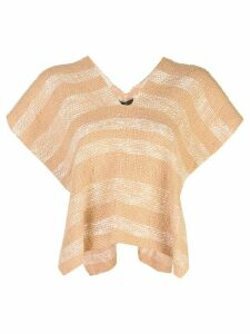 Voz Gradient knitted poncho - PINK