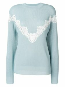 See by Chloé lace trimmed sweater - Blue