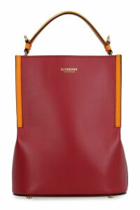 Burberry Peggy Leather Bucket Bag