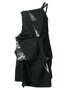 Issey Miyake deconstructed one-shoulder top - Black