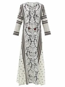 D'Ascoli - Mecox Floral-print Silk Maxi Dress - Womens - Black Print