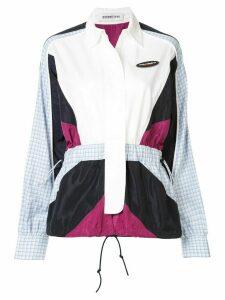 Ground Zero colour block shirt jacket - ONE MIX