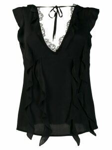 Cavalli Class lace trimmed top - Black