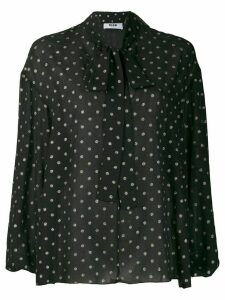 MSGM glitter dotted blouse - Black