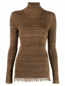 Marni frayed hem jumper - Brown