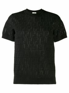 Fendi FF motif knit top - Black