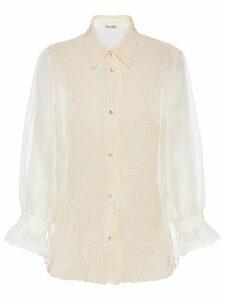 Miu Miu organza sequinned blouse - NEUTRALS