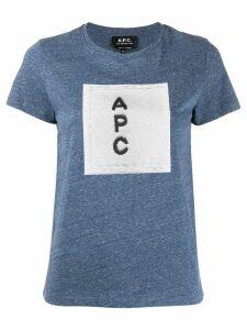 A.P.C. logo T-shirt - Blue