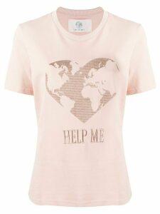 Alberta Ferretti Help Me T-shirt - PINK