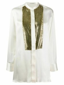 Etro snakeskin effect blouse - White
