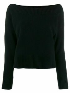 P.A.R.O.S.H. boat neck jumper - Black