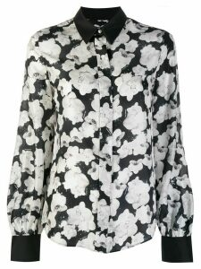 Karl Lagerfeld orchid print shirt - Black