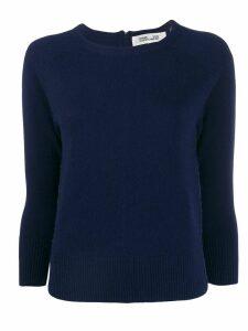 DVF Diane von Furstenberg contrasting zip sweater - Blue
