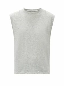 Frame - Le Mid Rise Muscle Cotton Tank Top - Womens - Light Grey