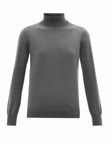 A.P.C. - Sandra Roll-neck Merino-wool Sweater - Womens - Grey