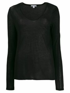 James Perse lightweight jersey top - Black