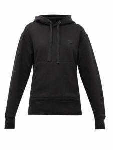 Acne Studios - Ferris Face Cotton Hooded Sweatshirt - Womens - Black