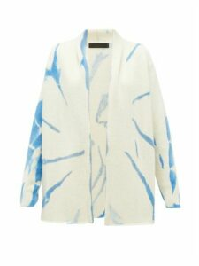 The Elder Statesman - Tie-dye Cashmere Cardigan - Womens - Blue White