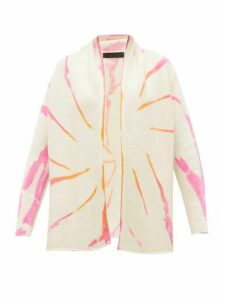 The Elder Statesman - Cyclone Tie-dye Cashmere Cardigan - Womens - Pink White