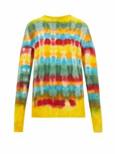 The Elder Statesman - Wacky Tie-dye Cashmere Sweater - Womens - Multi
