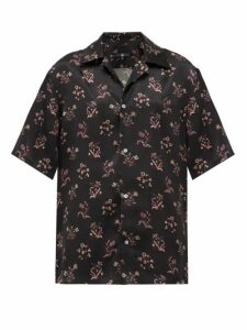 Edward Crutchley - Floral-print Silk Shirt - Womens - Black Multi