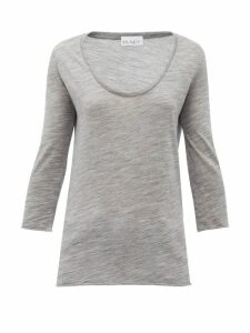 Raey - Scoop-neck Wool-jersey T-shirt - Womens - Grey