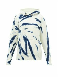 Les Tien - Tie-dye Cotton-jersey Hooded Sweatshirt - Womens - Cream Multi