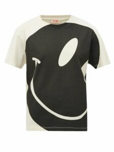 Raf Simons - Smiley Face-print Cotton T-shirt - Womens - Ivory
