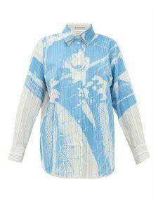Acne Studios - X Propaganda Stella Striped Cotton-blend Shirt - Womens - Blue White