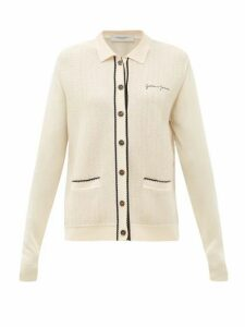 Golden Goose - Amelia Logo-embroidered Piped Cardigan - Womens - Cream