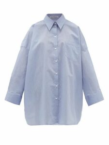 Acne Studios - Suky Oversized Cotton-blend Shirt - Womens - Blue