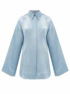 Acne Studios - Suzette Charmeuse Shirt - Womens - Light Blue