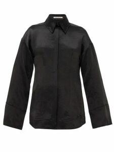 Acne Studios - Suzette Hammered-satin Shirt - Womens - Black