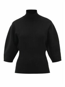 Acne Studios - Kesther Roll-neck Jersey Top - Womens - Black