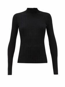 Acne Studios - Katina High-neck Ribbed Cotton-blend Sweater - Womens - Black
