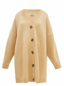 Acne Studios - Kirstie Dropped-shoulder Wool Cardigan - Womens - Beige