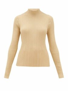 Acne Studios - Katina High-neck Ribbed Cotton-blend Sweater - Womens - Beige
