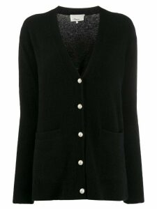 3.1 Phillip Lim faux-pearl button cardigan - Black