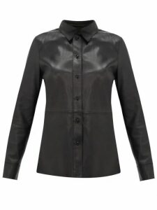 Stand Studio - Gabi Leather Shirt - Womens - Black