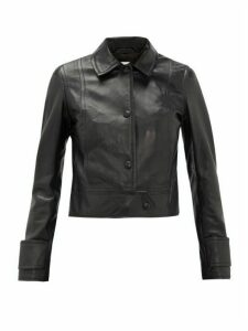 Stand Studio - Erin Point-collar Leather Jacket - Womens - Black