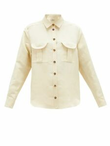 Blazé Milano - Savannah Berber Linen-blend Shirt - Womens - Cream