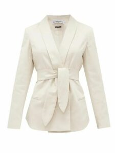 Àcheval Pampa - Tero Single-breasted Belted Cotton-blend Blazer - Womens - Beige