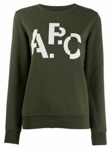 A.P.C. distorted logo jumper - Green