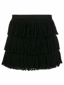 RedValentino fringed tassel skirt - Black