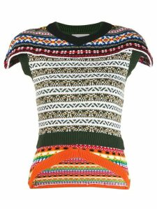 Preen By Thornton Bregazzi embroidered short-sleeve top - Green