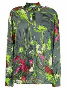 Blumarine floral print shirt - Grey