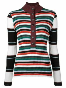Proenza Schouler White Label PSWL Rugby Striped Turtleneck Sweater