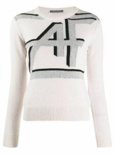 Alberta Ferretti intarsia-knit jumper - White
