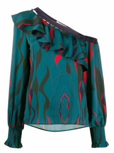 Three Floor Finesse one shoulder blouse - Green